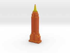 Empire State Building - Orange w Black windows in Full Color Sandstone