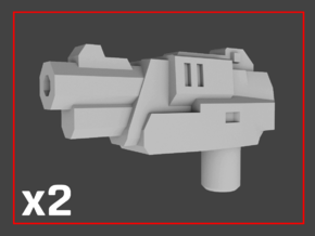 """""""Anvil"""" Transformers Weapons (5mm post) in White Strong & Flexible"""