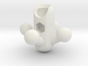 4-Leg RoBorg Hip for ModiBot in White Natural Versatile Plastic