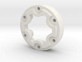 Tribute Wheel Planetary Cap Spacer in White Natural Versatile Plastic