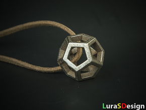 Dodecahedron Pendant in Stainless Steel