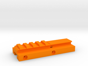 Hybrid Nerf Rail Adaper (95mm) in Orange Processed Versatile Plastic