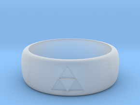 zelda Triforce ring 9.5 mens size in Smooth Fine Detail Plastic