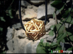 Crystal Star Pendant in Polished Gold Steel