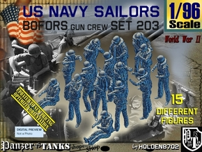 1/96 USN Bofors Set 203 in Smooth Fine Detail Plastic