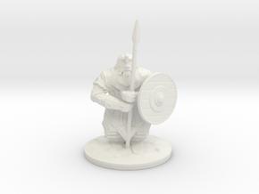 dwarf spearman 28mm in White Natural Versatile Plastic