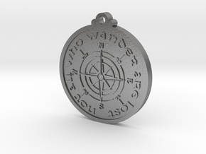 Wanderer Compass  in Natural Silver