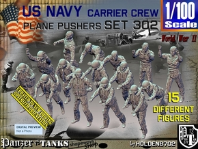 1/100 USN Carrier Deck Pushers Set302 in Smooth Fine Detail Plastic