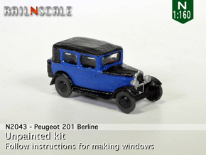Peugeot 201 Berline (N 1:160) in Smooth Fine Detail Plastic
