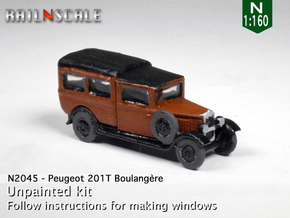 Peugeot 201 T Boulangère (N 1:160) in Smooth Fine Detail Plastic