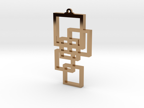 Squares Pendant in Polished Brass