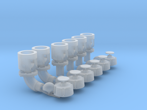 Winteb Air pipe heads_DN200 for damen ships in Smooth Fine Detail Plastic: 1:32