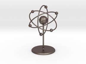 Atom Model in Polished Bronzed Silver Steel