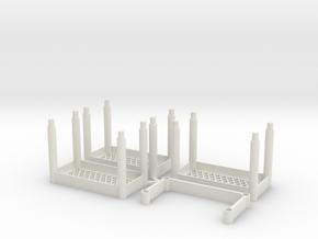 Garage Shelves 3 tiers in White Natural Versatile Plastic