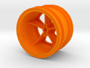 losi jrx2 rear wheel in Orange Processed Versatile Plastic