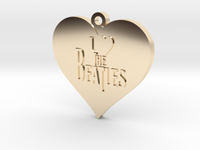 I Love The Beatles pendant in 14k Gold Plated Brass