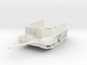 gutted carrier AVRE tracked trailer  1/56 in White Natural Versatile Plastic