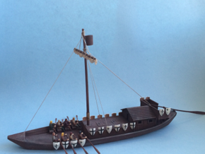 Medieval Teutonic Riverboat in White Strong & Flexible
