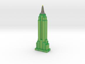 Empire State Building - Green w White windows in Full Color Sandstone