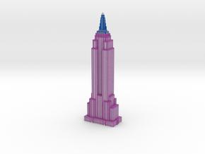 Empire State Building - Purple w White windows in Full Color Sandstone