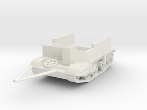 gutted  carrier A.V.R.E tracked trailer  1/100 in White Natural Versatile Plastic
