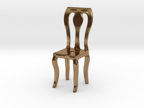 Dining Chair in Natural Brass: Small