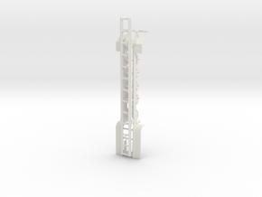 000480 Roll on off Trailer HO 1:87 in White Natural Versatile Plastic: 1:87 - HO
