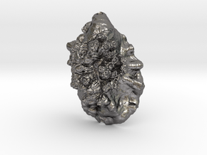 Oyster Pendant 01 in Polished Nickel Steel