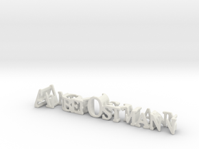 3dWordFlip: Amber Ostmann/I love you in White Natural Versatile Plastic
