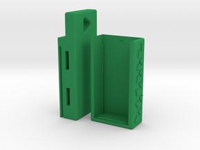Keychain Aspirin Dispenser V3.12 **EU Version** in Green Processed Versatile Plastic