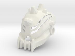 Baterra Head/Helmet in White Premium Versatile Plastic