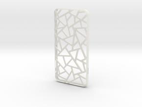 iPhone 6 plus / 6S plus Case_Triangles in White Premium Versatile Plastic