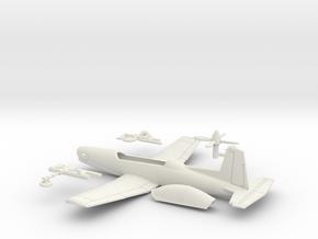014E Pilatus PC-9 1/72 in White Natural Versatile Plastic