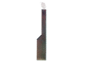 Brick Building Side Chimney N Scale in White Natural Versatile Plastic