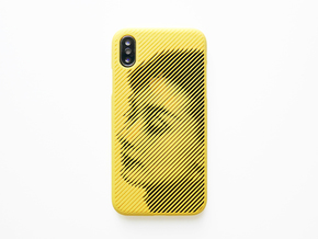 iPhone X case_AUDREY HEPBURN in Yellow Processed Versatile Plastic