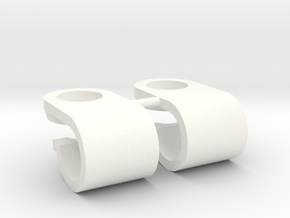 Support de gyrophare Pistenking pour rampe de 5mm  in White Processed Versatile Plastic