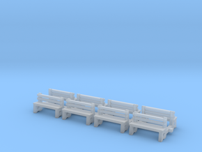 Bench N Scale Benches in Smooth Fine Detail Plastic