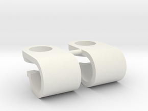 Support de gyrophare Pistenking pour rampe de 5mm  in White Premium Strong & Flexible
