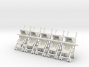 5 1:48 Stroller in White Natural Versatile Plastic