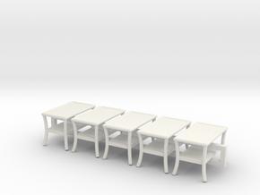 5 - 1:48 Patio Table in White Natural Versatile Plastic