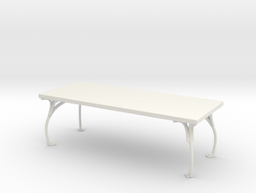 Miniature Sangirolamo Table -160cm- Poltrona Frau in White Natural Versatile Plastic: 1:12