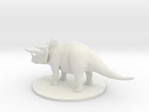 Triceratops in White Natural Versatile Plastic