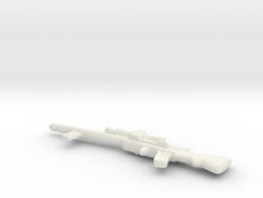 Snowtrooper Dengar Rifle Custom in White Natural Versatile Plastic
