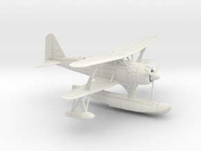 1/96 IJN Mitsubishi F1M2 'Pete' Type 0 Observation in White Natural Versatile Plastic