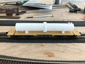 Flatcar Load - Fraction Tower - Nscale in Smooth Fine Detail Plastic