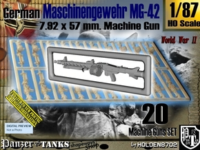 1/87 Machine Gun MG-42 Set001 in Smoothest Fine Detail Plastic