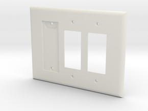 Philips Hue Single Dimmer Plate Left 3 Gang Decora in White Natural Versatile Plastic