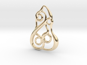 Spiral mosaic in 14K Yellow Gold