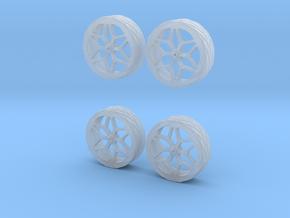 Printle Thing Car Wheels n°01 - 1/87 in Smooth Fine Detail Plastic