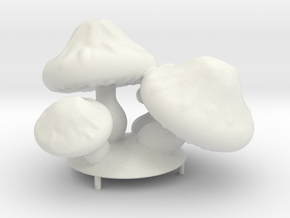 Mushroom Flash Lamp in White Natural Versatile Plastic